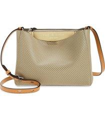 rag & bone passenger perforated leather crossbody bag - beige
