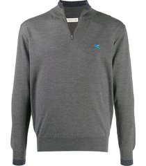etro logo embroidered pullover - grey
