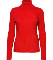 pullover long-sleeve turtleneck coltrui rood taifun