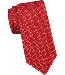 colorblock logo silk tie