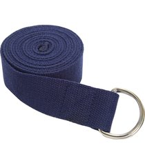 everyday yoga 8 foot strap d-ring true navy blue cotton/polyester