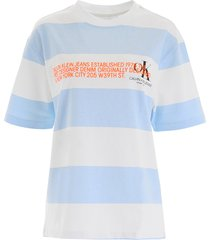 calvin klein striped t-shirt with logo