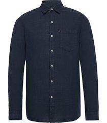 ryan linen shirt overhemd casual blauw lexington clothing