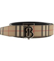 burberry reversible monogram motif vintage check belt