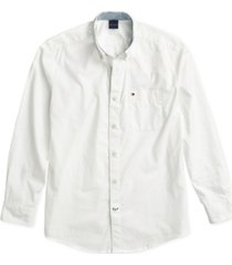 tommy hilfiger adaptive men's capote shirt with magnetic buttons