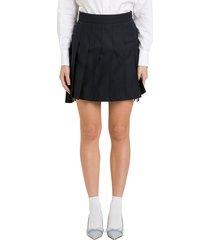 thom browne pleatde mini skirt