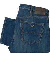 emporio armani j21 jeans stretch cotton jeans 8n1j21-1d0mz