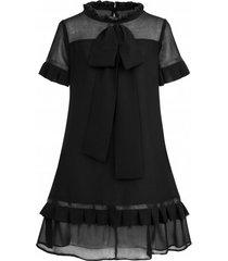 sukienka czarna z kokardą