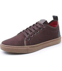 sapatenis sandalo levit brown - cafã©/marrom - masculino - dafiti