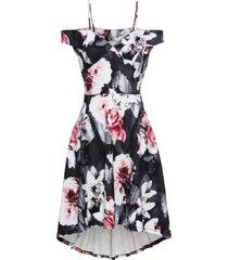 abito a fiori con spalle scoperte (nero) - bodyflirt boutique