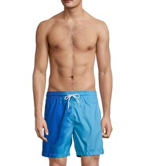 trunks men's colorblock swim shorts - neon blue - size xl