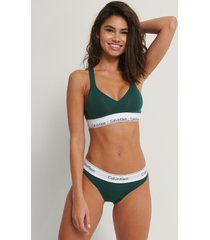 calvin klein bikinitrosa - green