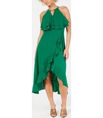 kensie ruffled popover dress