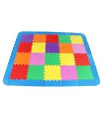 tapete liso com bordas em eva com 42 peças