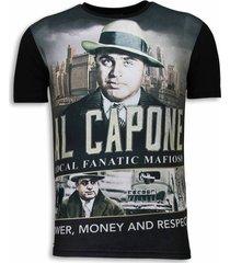al capone mafioso - digital rhinestone t-shirt
