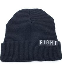 gorro de lana negro fight for your right beanis almendra