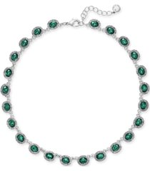 """charter club crystal collar necklace, 17"""" + 2"""" extender, created for macy's"""