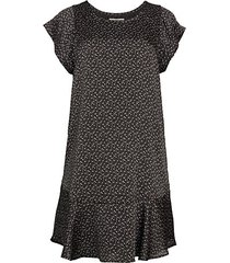 carlen print flounce dress