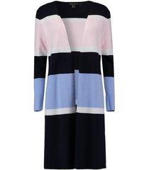 vest cardigan donkerblauw streep