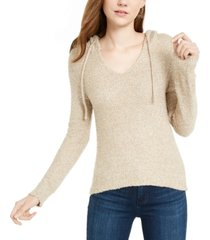 crave fame juniors' marled fuzzy pullover hoodie