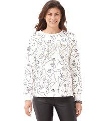 sweatshirt amy vermont offwhite::zwart