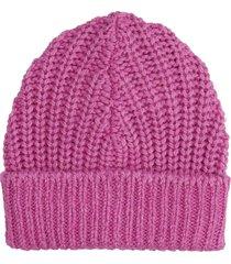 isabel marant joyce hats in rose-pink wool