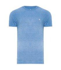 camiseta masculina básica devorê - azul