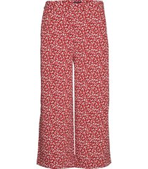 d2. french floral fluid culotte wijde broek roze gant