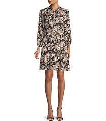 floral blouson dress