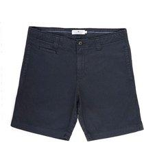 bermuda corta unicolor color azul slim fit para hombres 00108
