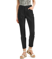 inc folded-waist tapered pants, created for macy's