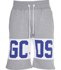 gcds grey shorts with logo