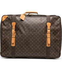 louis vuitton 1990s monogram suitcase - brown