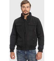 chaqueta tommy hilfiger negro - calce regular