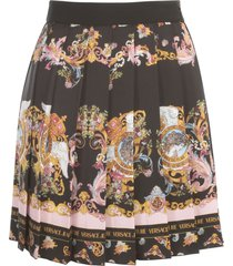 versace jeans couture short pleated skirt