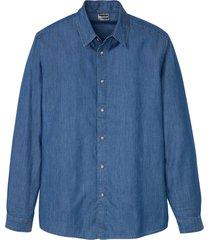 camicia in jeans slim fit (blu) - rainbow