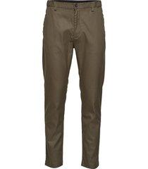 tapered elastic twill pant chino broek groen calvin klein