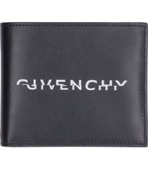 givenchy leather flap-over wallet