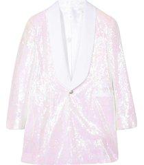 white blazer with sequins