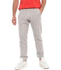 pantalón de buzo adidas originals trefoil pant gris - calce regular