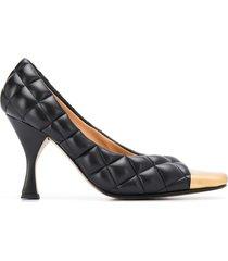 bottega veneta toe cap padded pumps - black