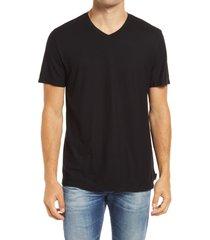men's ag bryce men's v-neck t-shirt, size small - black