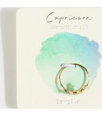 capricorn constellation ring - gold