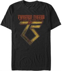 fifth sun twisted sister men's metal rock n roll logo short sleeve t-shirt