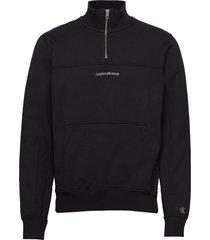 instit chest logo mo sweat-shirt trui zwart calvin klein jeans