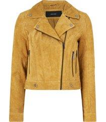 mockajacka vmroycesalon short suede jacket