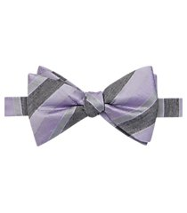 jos. a. bank muted stripe pre-tied formal bow tie clearance