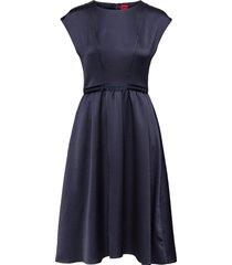 kihena-1 knälång klänning blå hugo