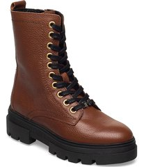 rugged classic bootie shoes boots ankle boots ankle boot - flat brun tommy hilfiger