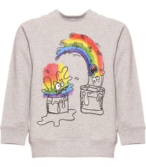 stella mccartney rainbow paint monster sweatshirt